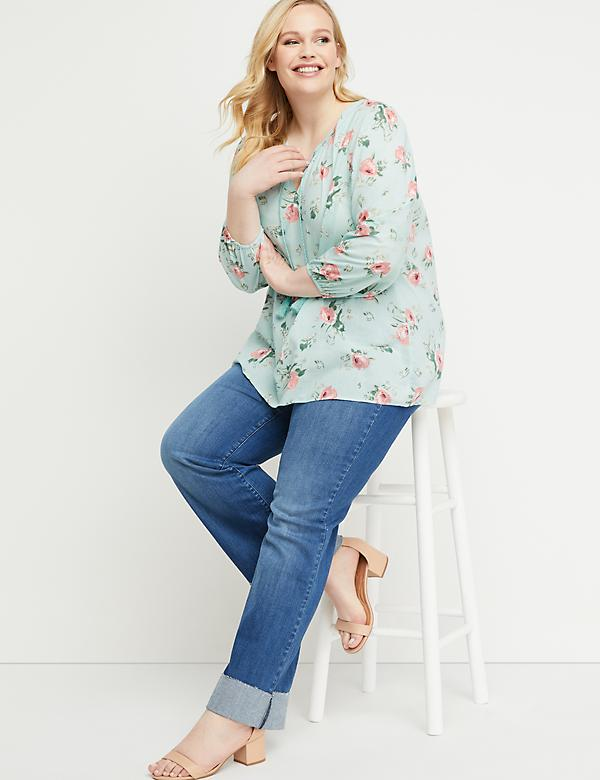 Easy Floral Peasant Top