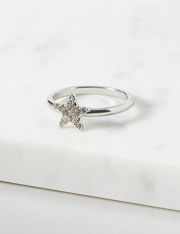 Pave Star Ring