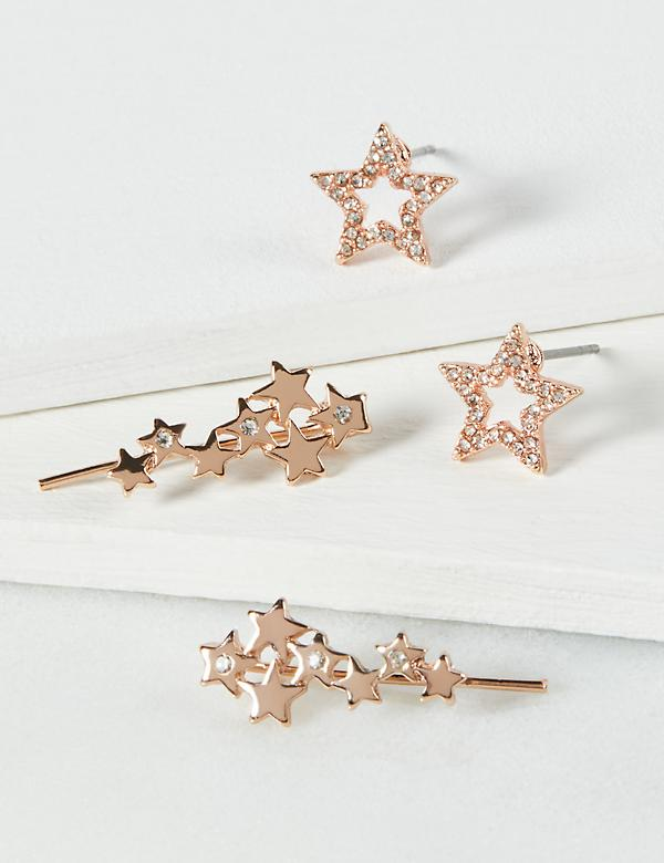 Earrings 2-Pack - Star Crawler & Star Stud