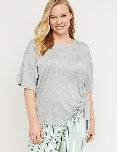 3d1444ccc Ruched Drawstring Sleep Top