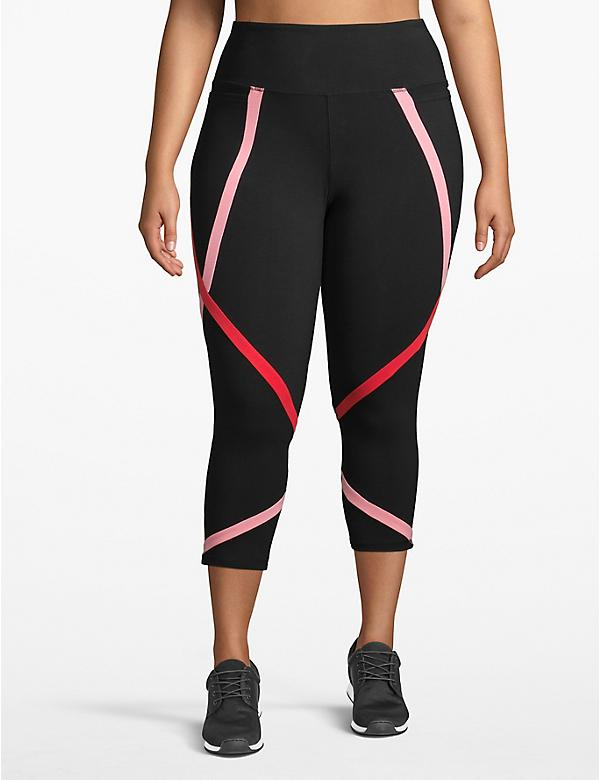 Active Capri Legging - Contrast Spliced Colors