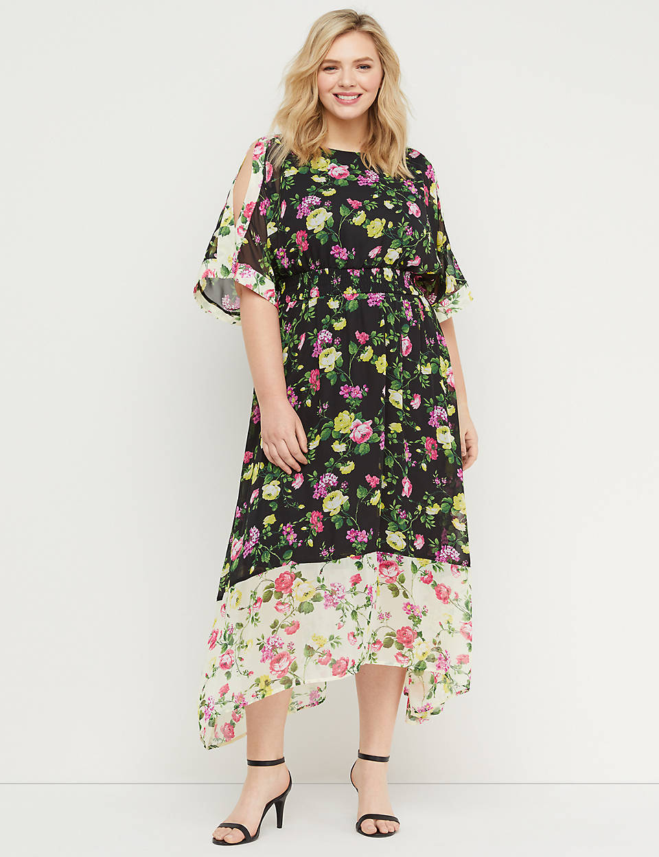 da363f388fd Floral Smocked-Waist Maxi Dress