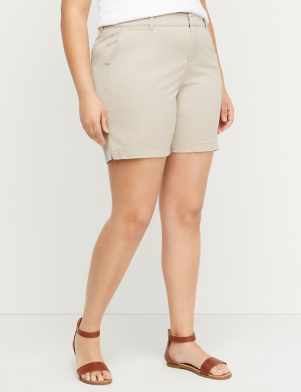 Twill Girlfriend Chino Short - 7 Inseam