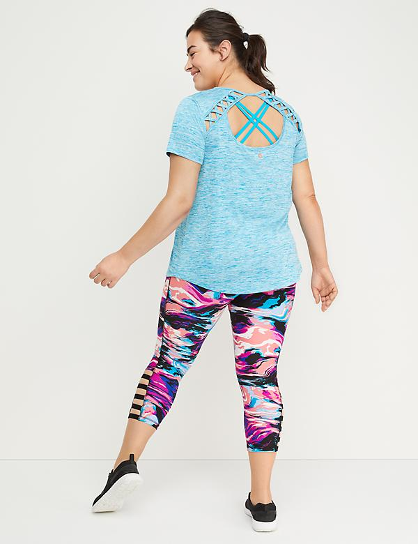 Wicking Back-Cutout Active Tee