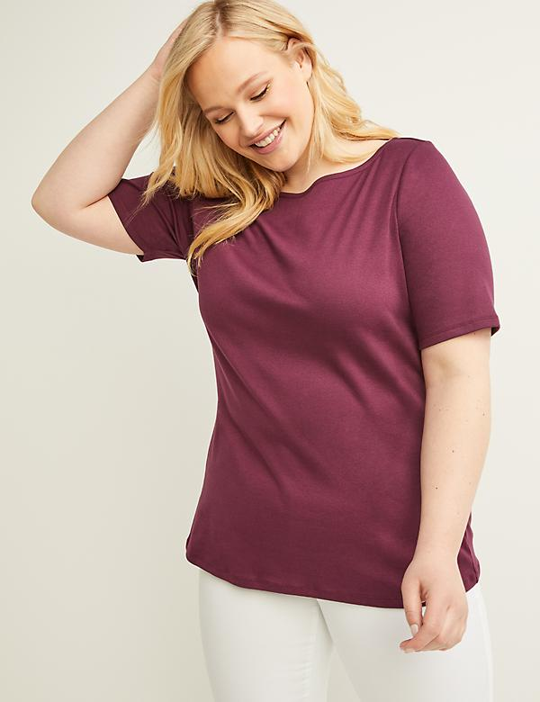 Perfect Sleeve Boat-Neck Tee