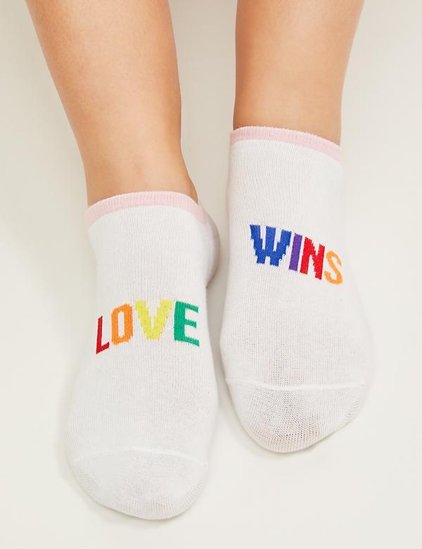 bf40a25e96e Love Wins Graphic Ankle Socks