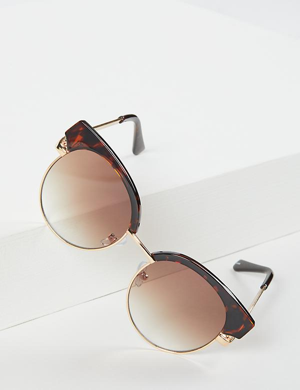 Tortoise Metal Cateye Sunglasses
