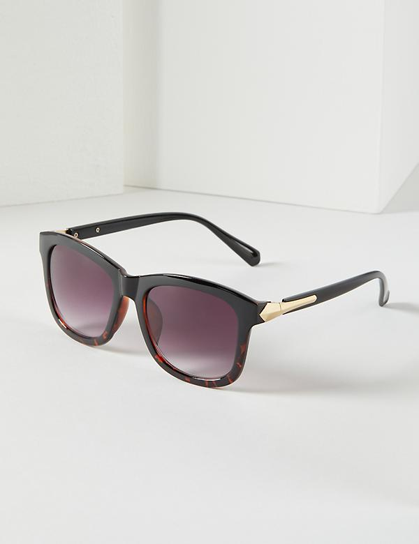 Square Sunglasses with Side Metal Detail