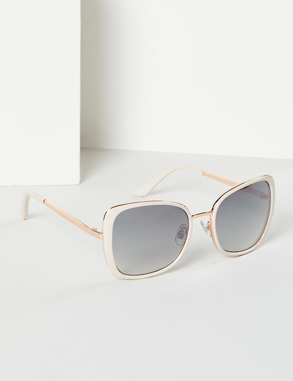 Contrast Layered Square Sunglasses