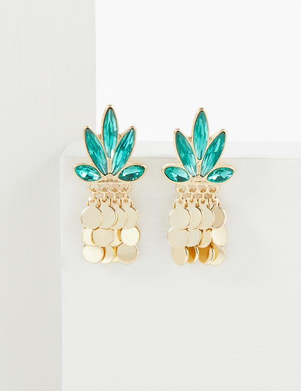 Faceted Pineapple Stud Earrings