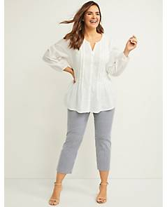 cb3aa6b694e6 image of Allie Smart Stretch Crop Pant - Striped with sku:355836