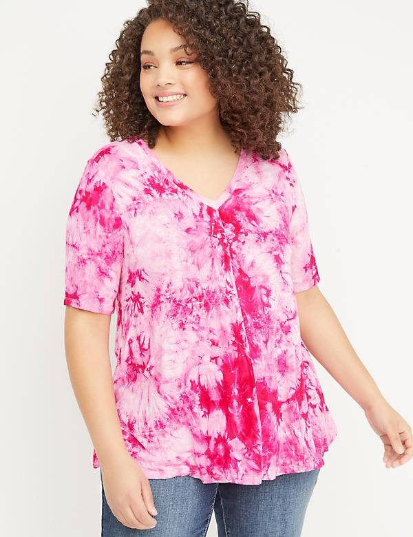 Tie-Dye Swing Tee with Strappy Back