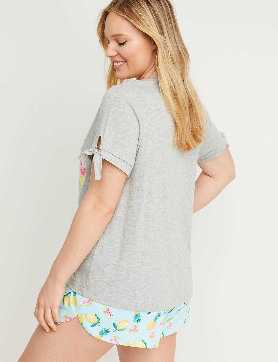 27b04cb1b Graphic Tee & Short PJ Set - Tie Sleeve | Cacique