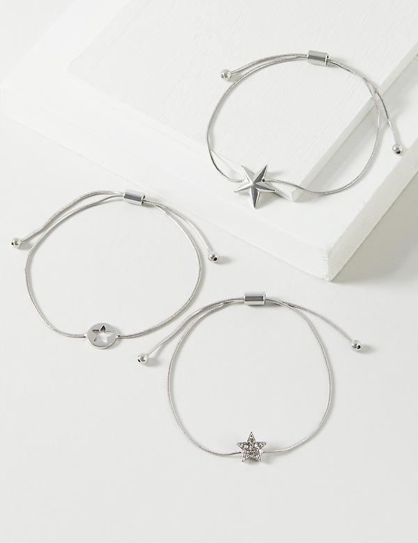3-Row Adjustable Star Bracelet Set