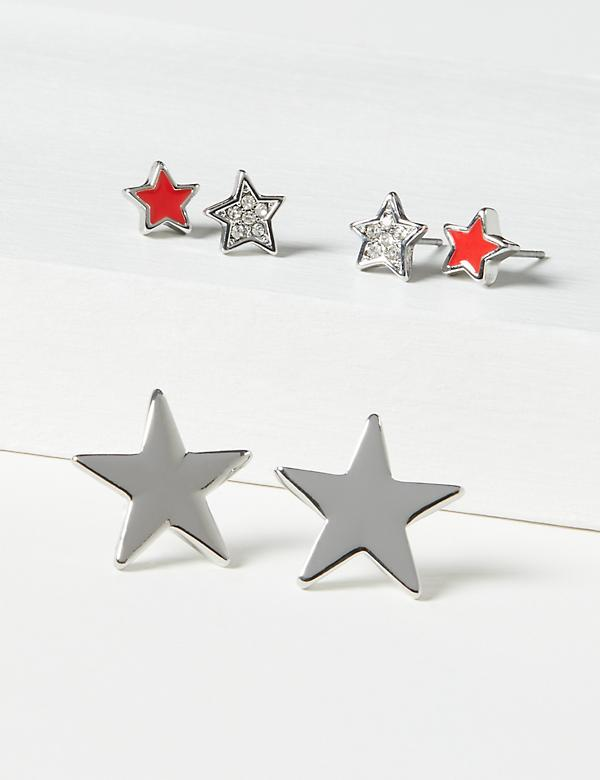 Stud Earrings 3-Pack - Stars
