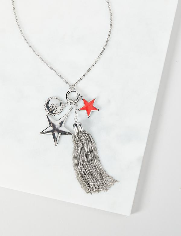 Star Pendant Tassel Necklace