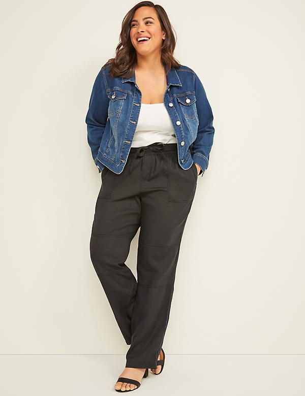 Pull-On Straight Ankle Cargo Pant