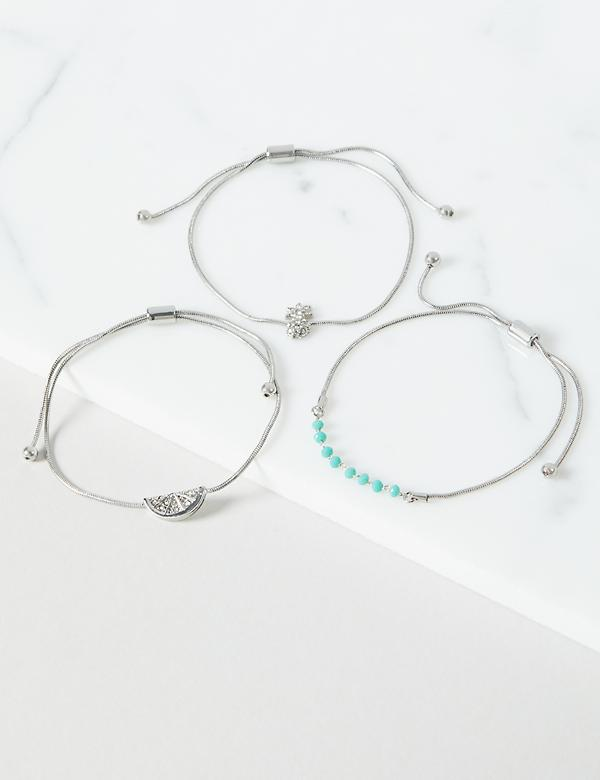 3-Row Adjustable Fruity Bracelet Set