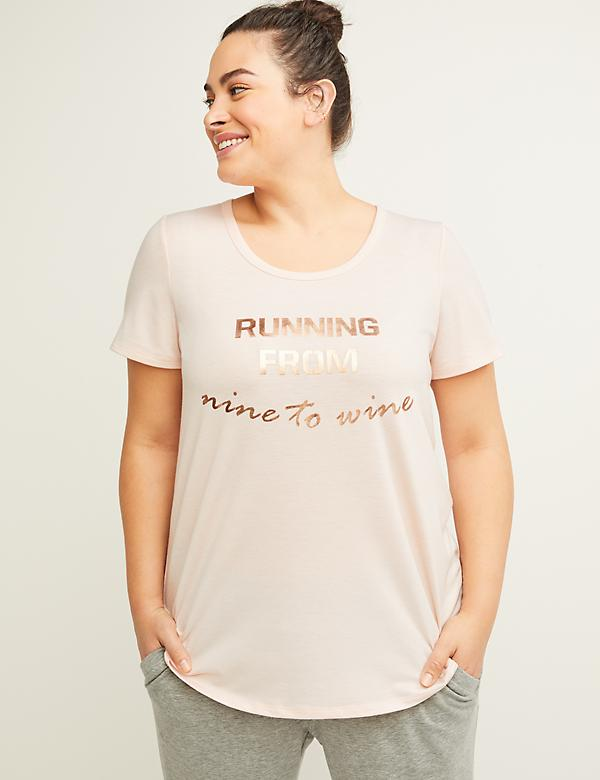 Active Running from Nine to Wine Graphic Top