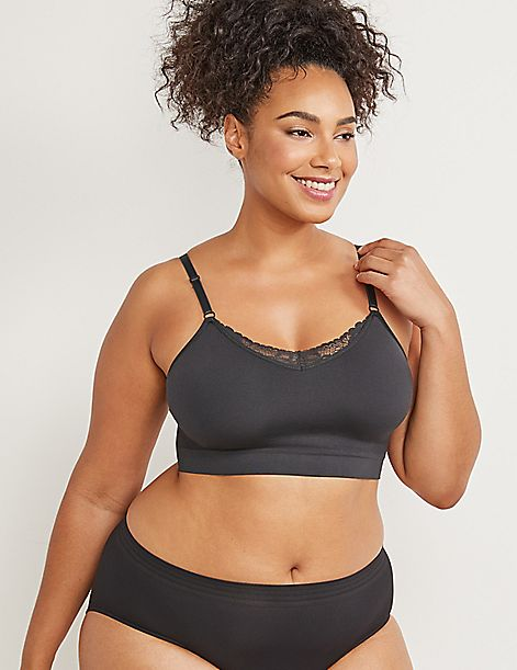 Seamless Bralette with Lace
