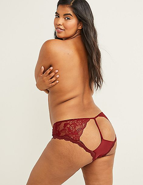 Open-Back Panty with Lace