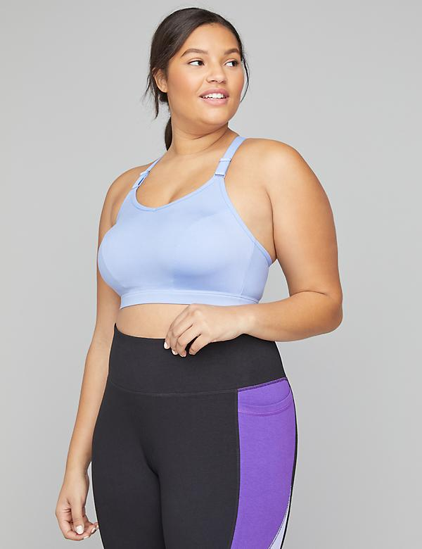 Medium-Impact Wicking Sports Bra - Strappy Back