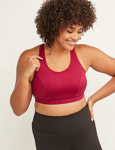 LIVI Active Low-Impact Wicking No-Wire Sport Bra - Mesh Cut-Out