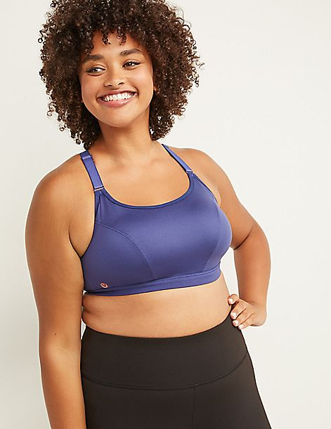 LIVI Active Medium-Impact Wicking No-Wire Sport Bra - Strappy Back