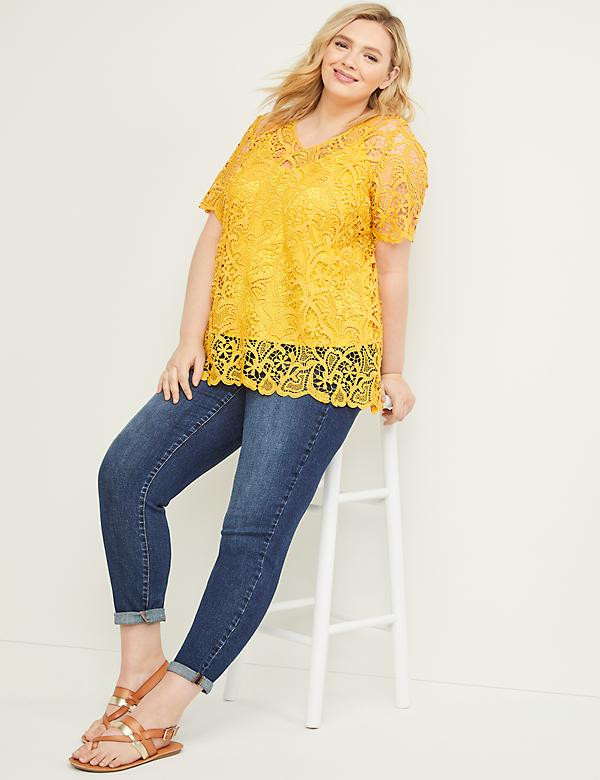 Embroidered Lace Top