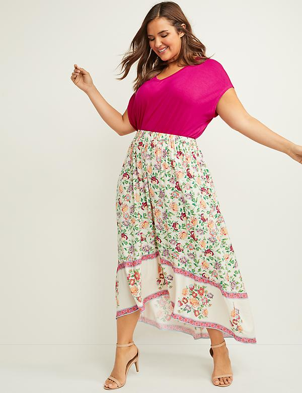 fdb3aaf380 Floral Pull-On Maxi Skirt