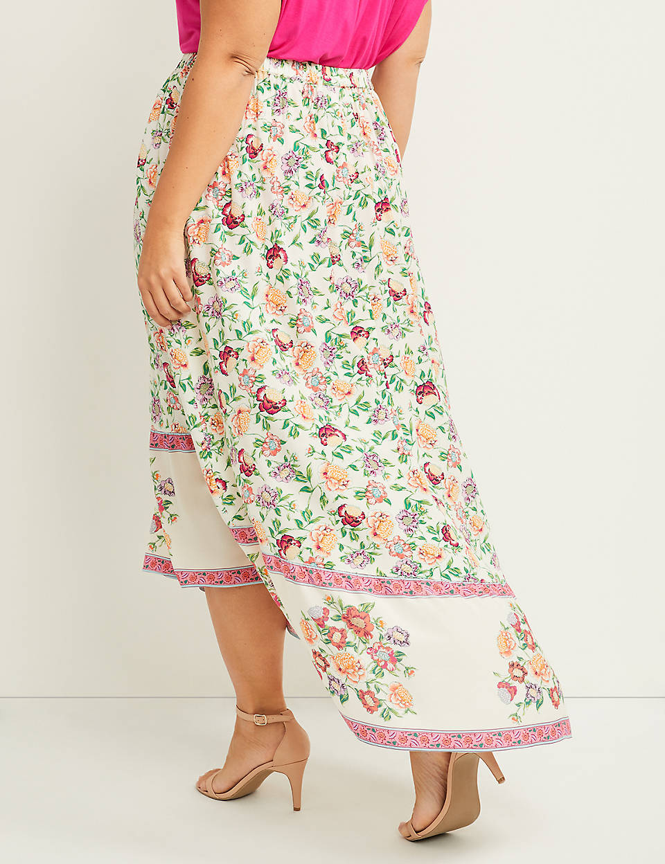 9a8f97d471 Floral Pull-On Maxi Skirt | Lane Bryant