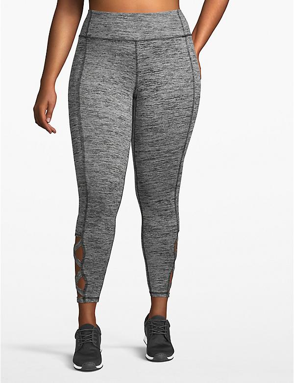 Active 7/8 Legging - Printed Lace-Up Hem