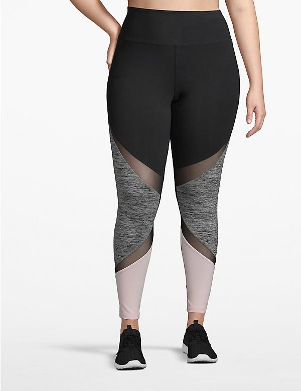 Active 7/8 Legging - Colorbock with Mesh