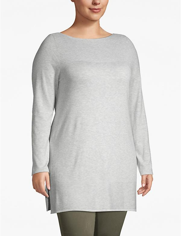 Sweater Tunic with Ribbed Details