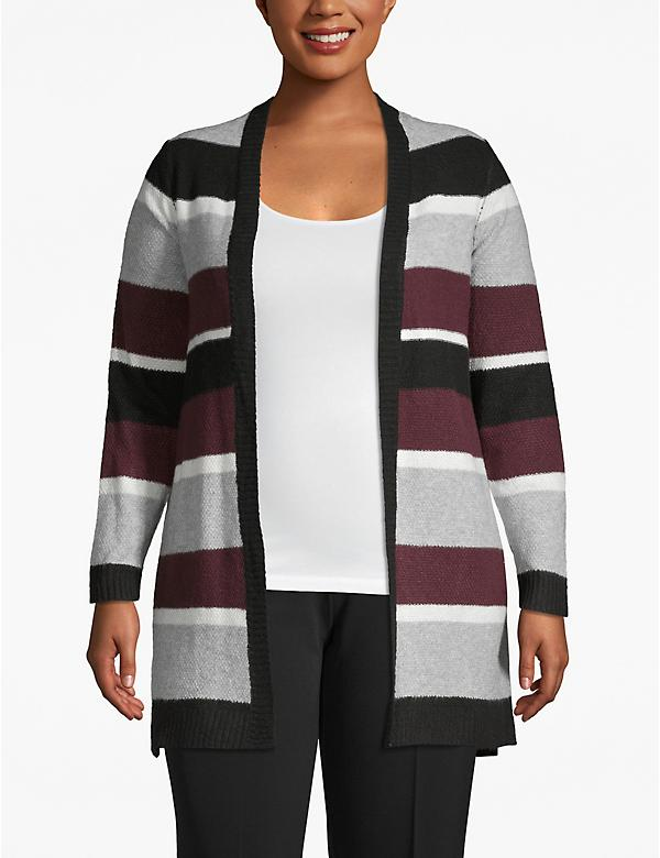 Open-Front Tunic Cardigan