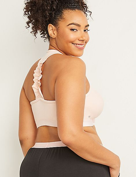 Cacique Sport Low-Impact Sport Bra - Ruffle Back