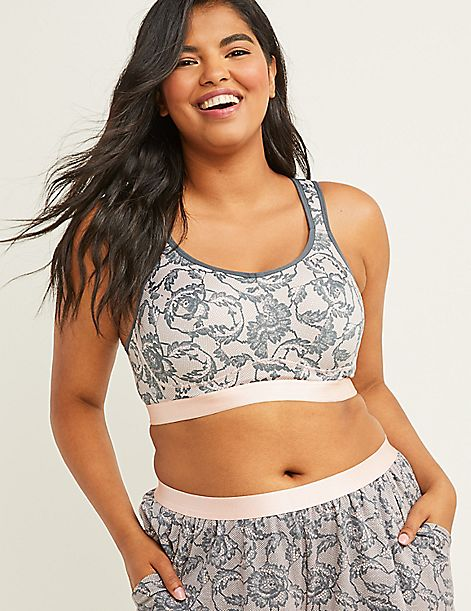 Cacique Sport High-Impact Wicking Sport Bra - Printed