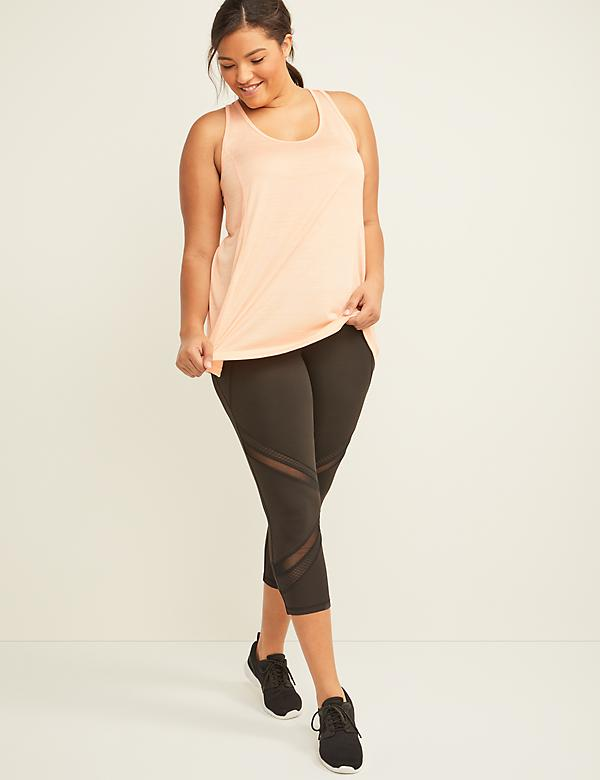 LIVI Active Wicking Capri Legging - Mesh Insets