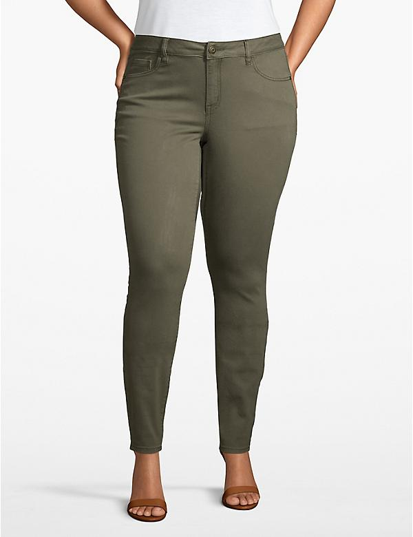 Venezia Smoothing Stretch Skinny Jean - Olive