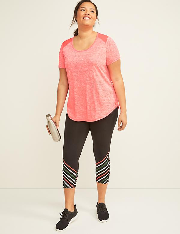 Signature Stretch LIVI Active Capri Legging - Stripe Blocking