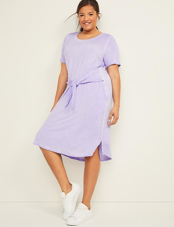 Washed LIVI Active Tie-Front Dress