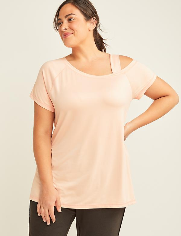LIVI Active Cold-Shoulder Tee