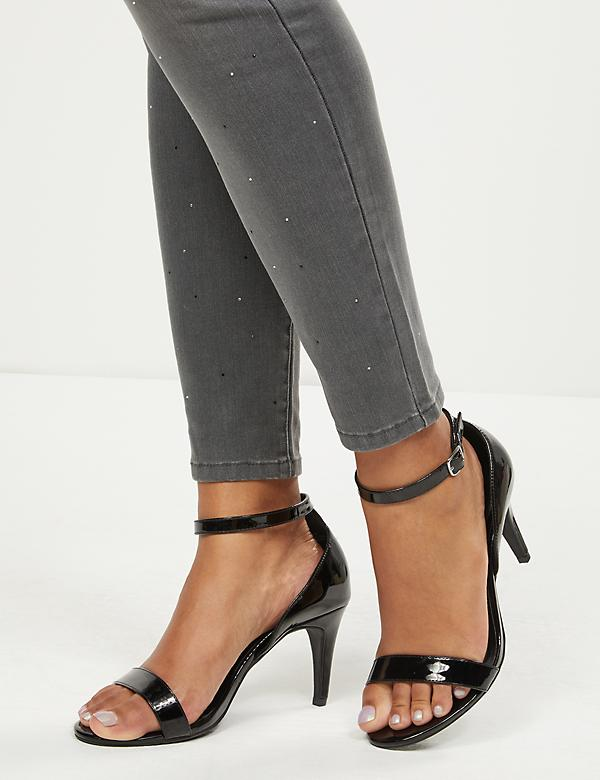 Patent Ankle-Strap Block Heel