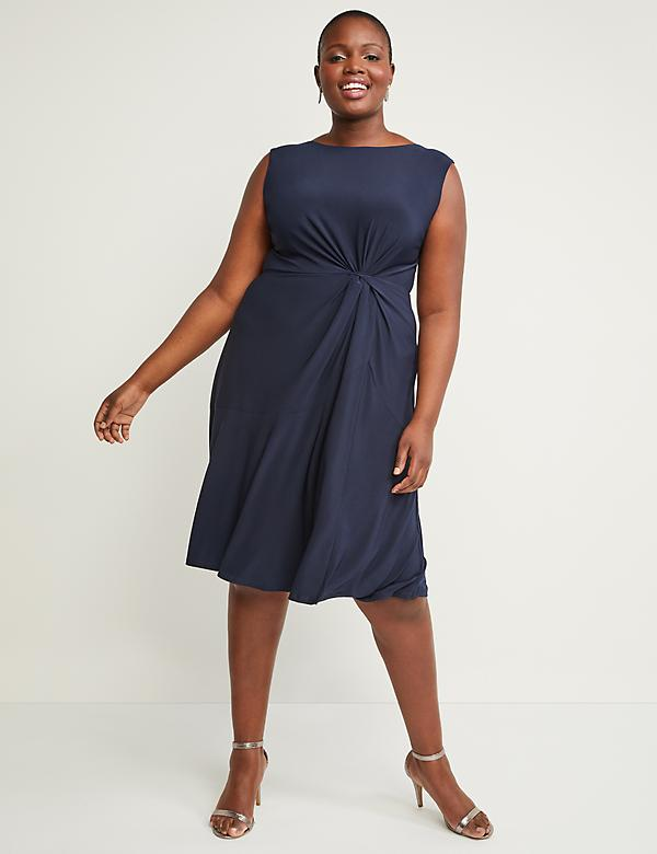 Side-Twist Fit & Flare Dress