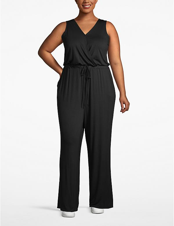 Active Faux-Wrap Jumpsuit