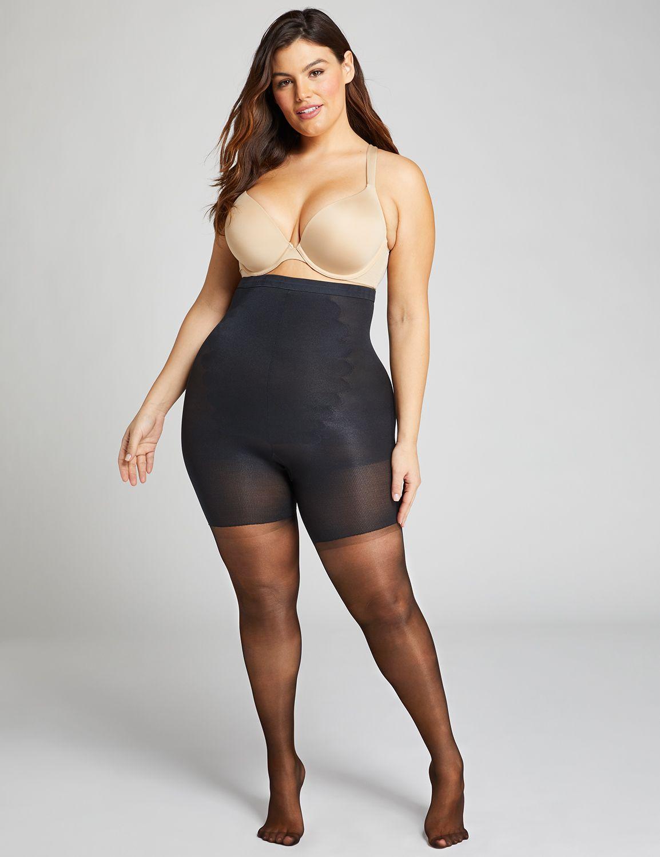 lane bryant women's spanx super-high shaping sheers f black