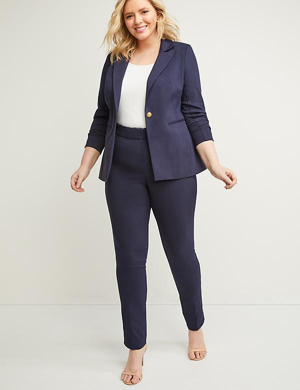 Allie Sexy Stretch Straight Leg Pant - Adjustable Inseam