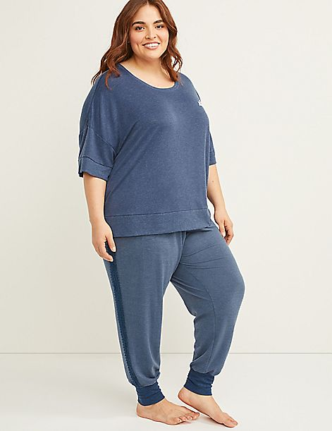 Lace Trim Sleep Jogger
