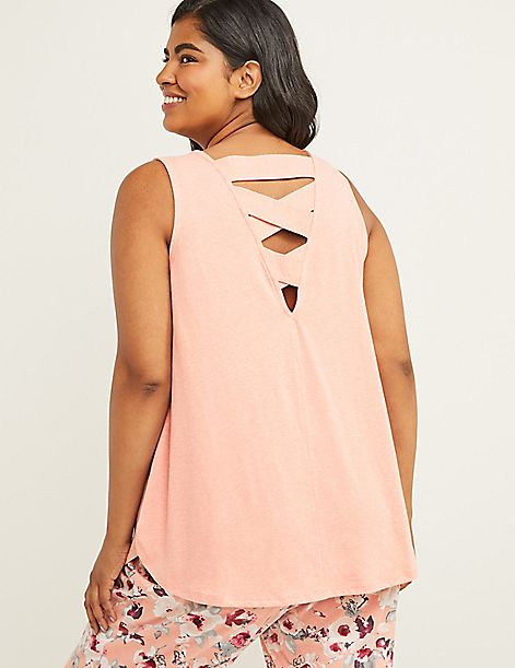 Eco-Chic Sleep Tank with Strappy Back