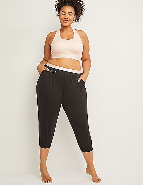 Logo Crop Sleep Jogger